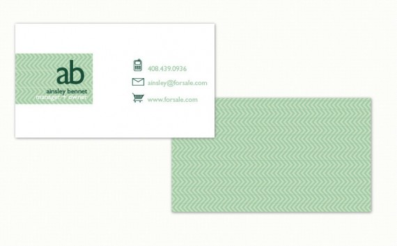 classic minted business card