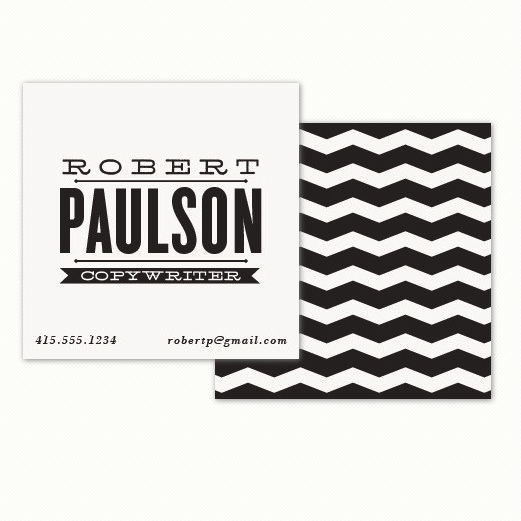 square minted business card