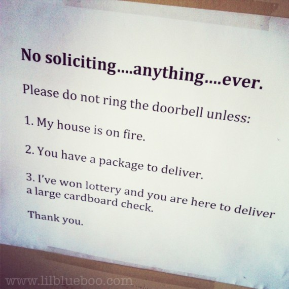 soliciting lottery