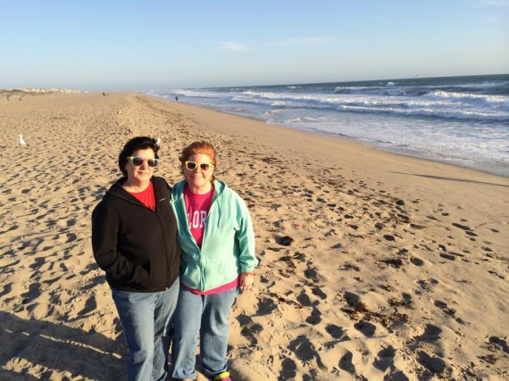 sue and kathy at oxnard beach