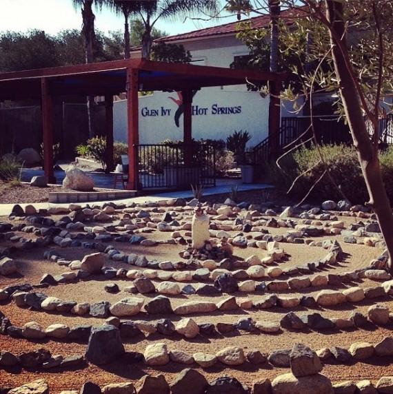 glen ivy hot springs labrynth