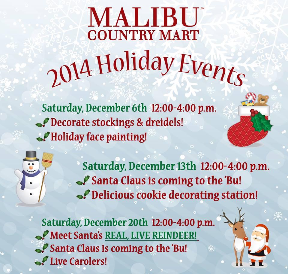 Malibu country mart s annual winter wonderland