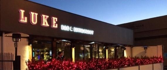 luke bar & restaurant ext night
