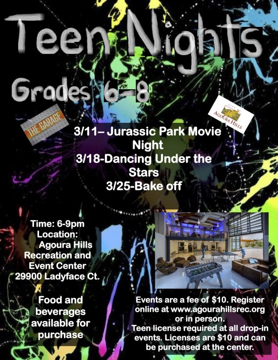 Teen Nights-March Flyer