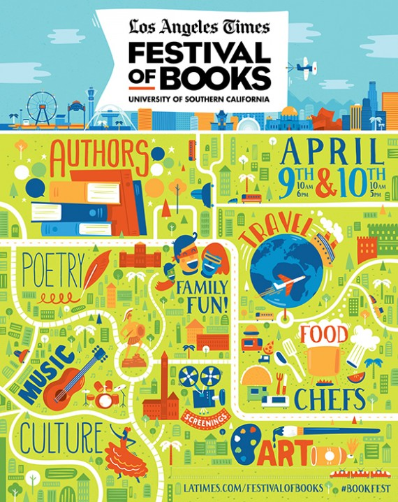 la times festival of books poster