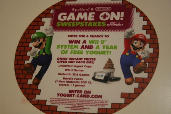 yogurtland super mario sweepstakes