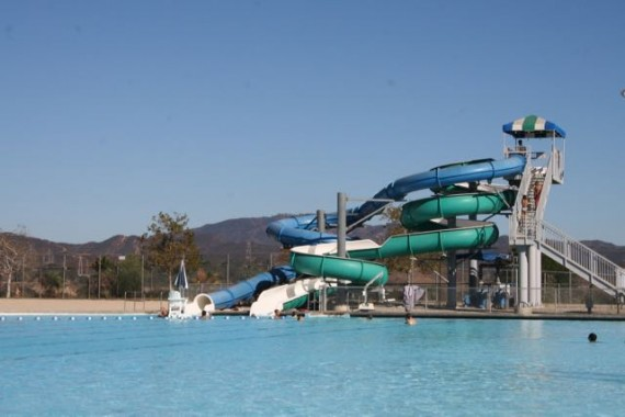 hansen dam aquatic center water slide