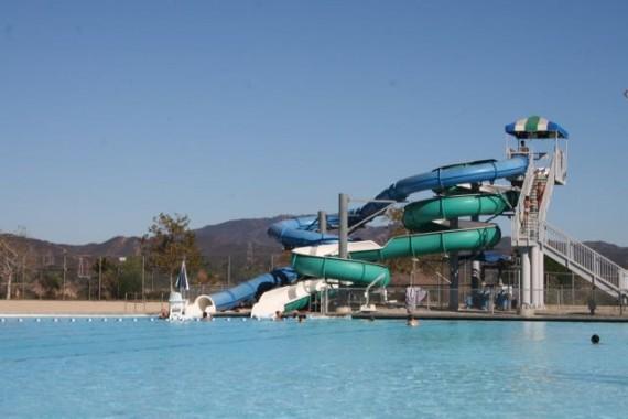 hansen dam aquatic center water slide