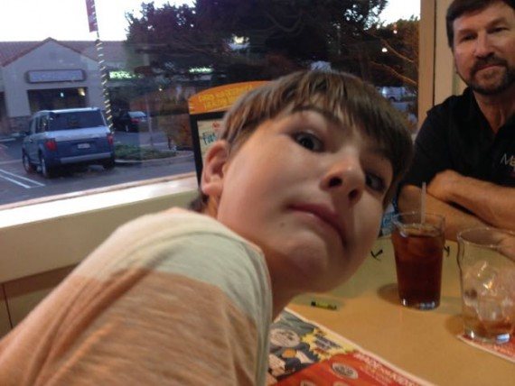 kids eat free funny face