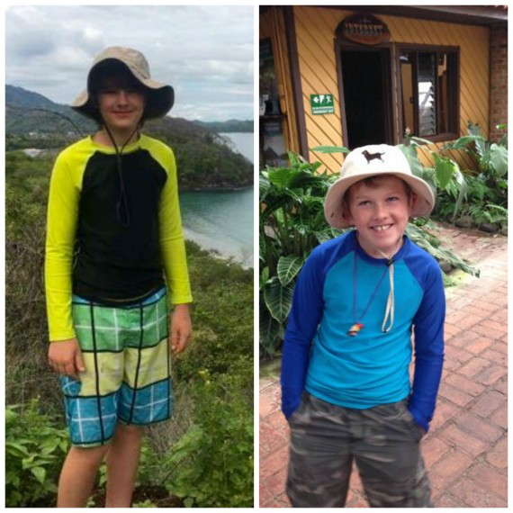 costa rica with kids side by side