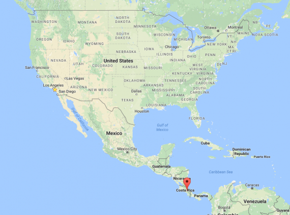 costa rica with kids map