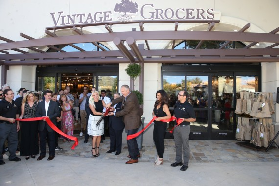 vintage grocers ribbon cutting