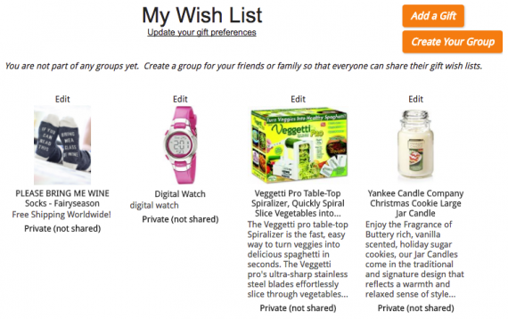 giftyou wish list