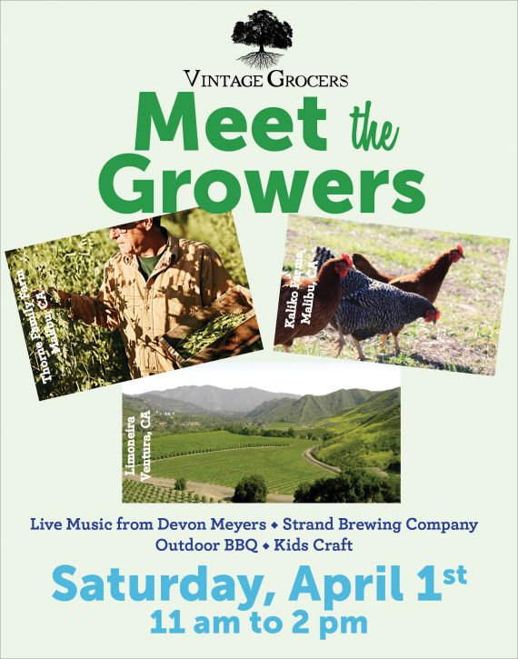 Vintage Grocers Meet the Growers flyer