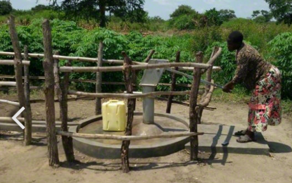 Team World vision water well in Africa