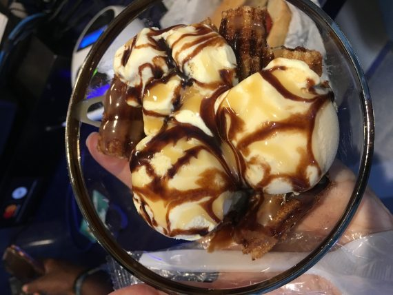 Dodger Stadium churro ice cream sundae