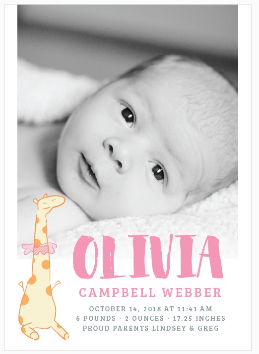 unique birth announcements basic template