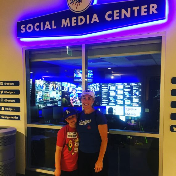 Dodger Stadium social media center