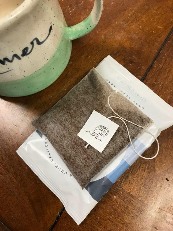 coffee bag with package and mug